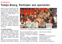 Temps Bourg. Participer aux spectacles