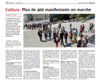 Plus de 400 manifestants en marche